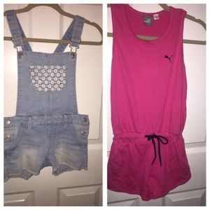 2x1 short overalls size 8-9
